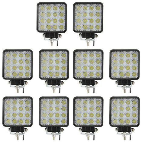 10X 48W LED LUCE FARO 12V 24V LAMPADA LAVORO FARETTO AUTO BARCA CAMION KLW SUV