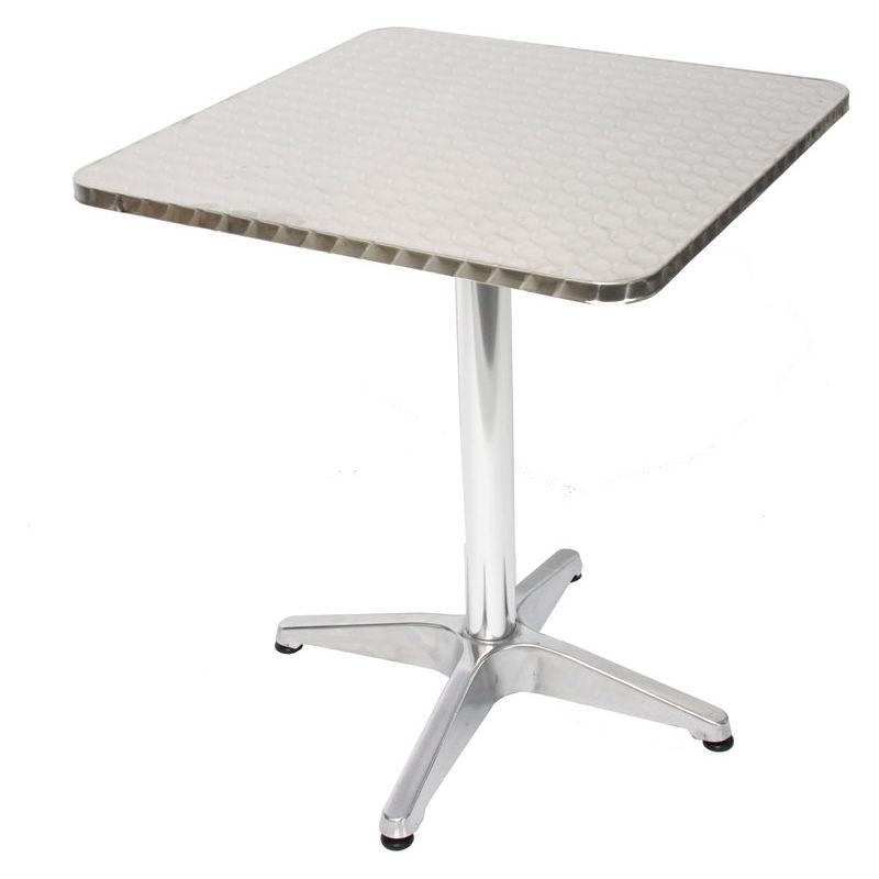 10x Alu-Bistrotisch H28, Tisch-Set Gartentisch, rechteckig 60 cm