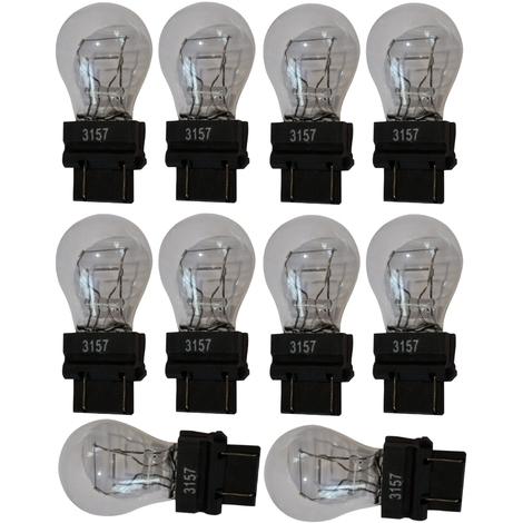 10x ampoule 12V 3157 W2.5x16Q P27/7W