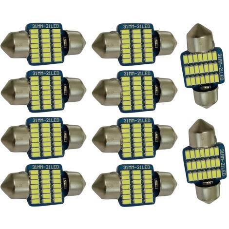 AERZETIX 10x Ampoules T4W T5W BA9s 12V LED Vert /éclairage int/érieur Plaque dimmatriculation seuils de Porte plafonnier Pieds Lecteur de Carte Coffre Compartiment Moteur
