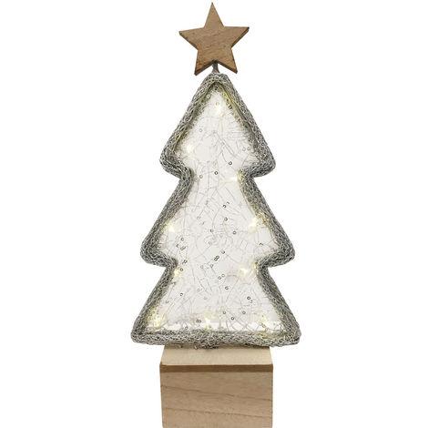 10x décoration LED arbre lumineux argent table de Noël éclairage Nordlux 80290000
