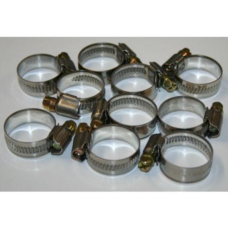9mm Breite 10 x Schlauchschelle Schlauchschellen DIN3017 16-27mm W2