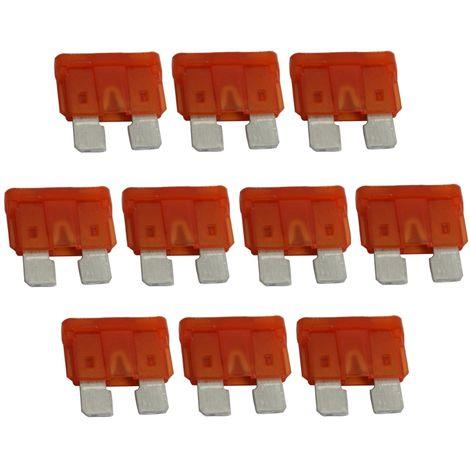 10x fusibles plats MIDI 19mm 40A orange 6V 12V 24V 32V