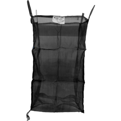 10x   Holz Big Bag 100x100x165 cm - Netzgewebe, SWL 1000 kg, SF 5:1