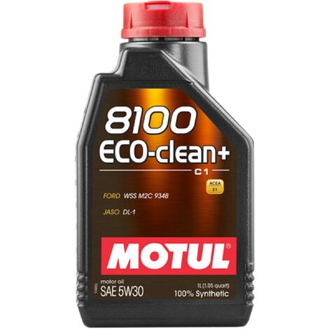 10x Huile Motul 8100 Eco-Clean plus C1 5W30 bidon de 1L
