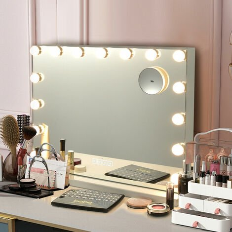 10X LED Vanity Mirror Light Kit 15 Dimmable Bulbs Dressing Table Light Bluetooth