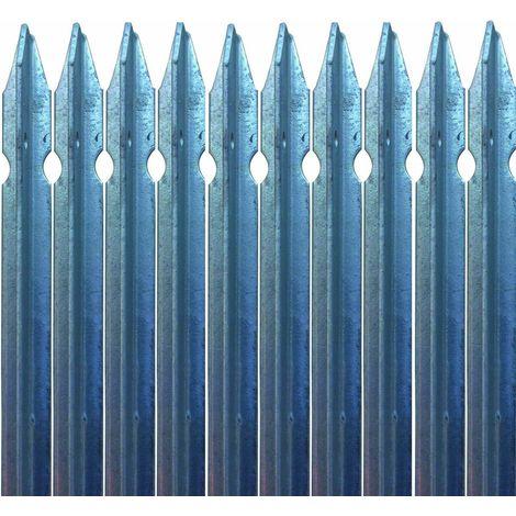 Pali Zincati Per Recinzione Costo.10x Paletto A T 30x30x3 H 150 Cm In Ferro Zincato A Norma Palo Per Recinzione