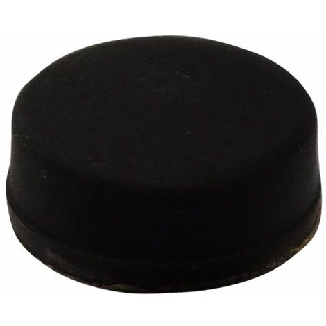 10x pieds patins ronds en caoutchouc H:5mm Ø11mm pour meubles. Auto-adhésifs. Noir