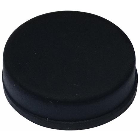 10x pieds patins ronds en caoutchouc H:6mm Ø20mm pour meubles. Auto-adhésifs. Noir