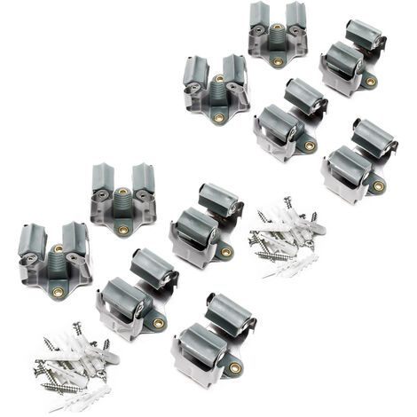 10x Porte-outils en acier Outils de jardin en acier Montage mural Montage mural Montage mural