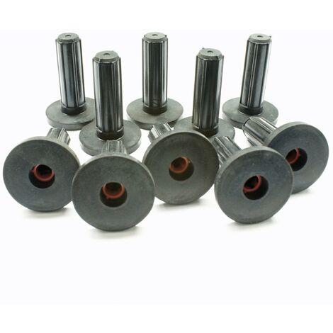 10x Schallschutzdübel 10mm Gummidübel Schallschutz-Dübel mit Bund