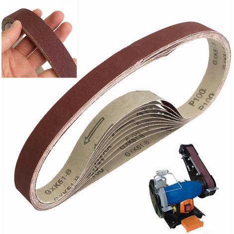 10x Schleifband 760x25mm Pr Sander Schleifpapier Schleifen Polieren 100 Körnung