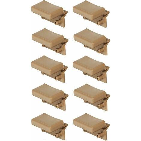 10x support lattes pour sommier 55mm - 56mm plastique embout lit meuble flexible