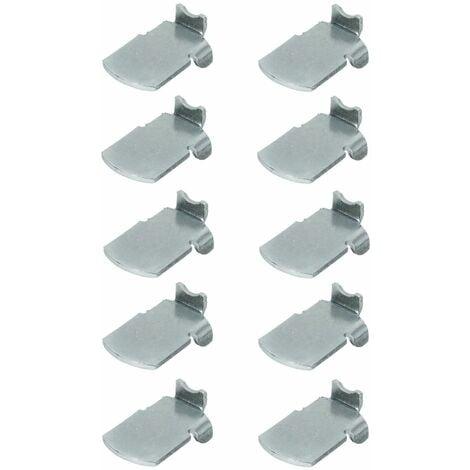 10x taquet acier étagère pour crémaillère support fixation attache armoire
