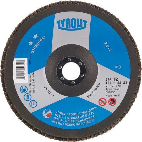 10x Tyrolit Flap disc 824385 125X22,23 ZA40 K 40