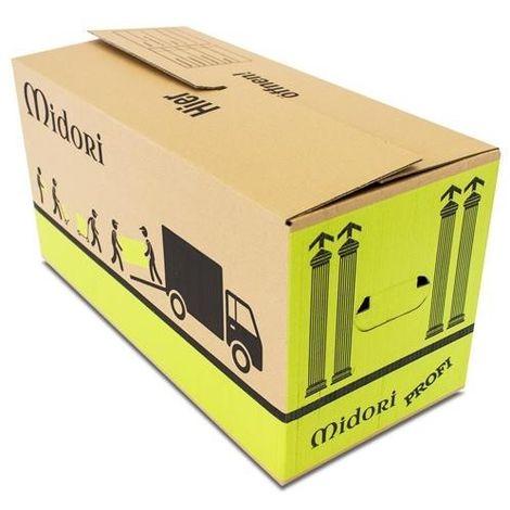 10x UMZUGSKARTONS PROFI 2-WELLIG 630 x 285 x 305mm stabile Umzug Karton