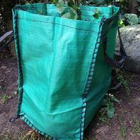 10x Yuzet 120 Litre Garden Waste Bags Heavy Duty Large Refuse Sacks With Handles