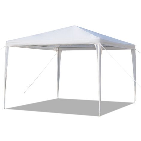 10x10 Inch Waterproof Tent with Spiral Tubes White