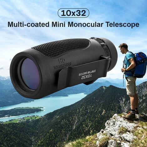 10X32 Telescope Monoculaire Haute Puissance Multi-Coated Portee Telescope Monoculaire Pour Observation Des Oiseaux Randonnee Camping Concert