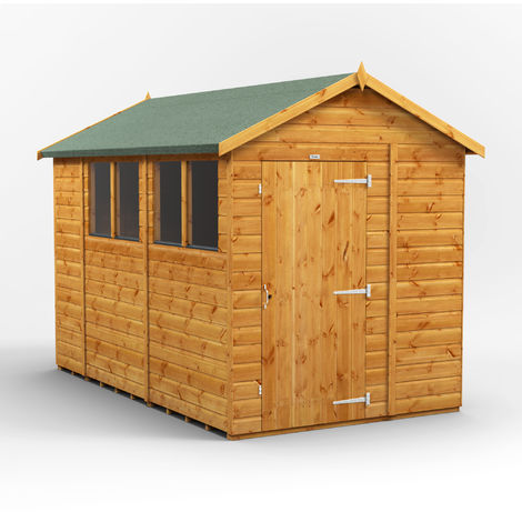 10x6 Power Apex Garden Shed