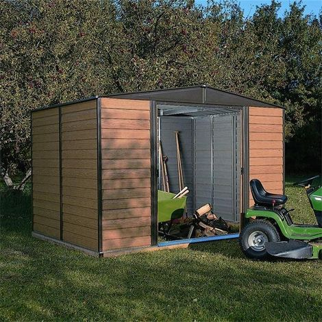 10x6 Woodvale Metal Apex Shed with Floor
