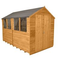 10'x8' Forest Apex Overlap Double Door Dip Treated Shed