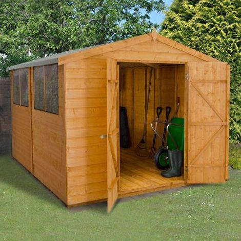 10'x8' Forest Double Door Apex Shiplap Dip Treated Shed