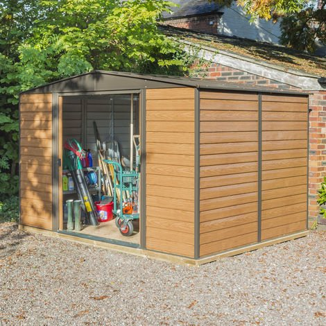 10x8 Woodvale Metal Apex Shed with Floor