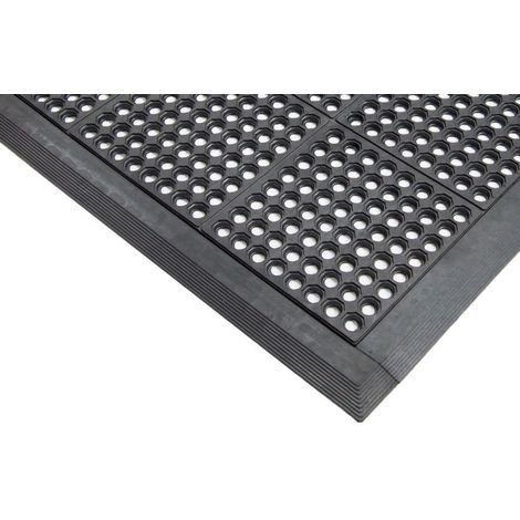 10x90cm Male Edge for Rubber Interlocking Grass Mat with Drainage Holes