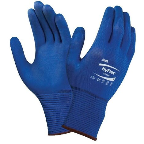 11-818 Hyflex Fortix Palm-side Coated Blue Gloves - Vending Pack