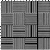 11 pcs Decking Tiles WPC 30x30 cm 1 sqm Grey