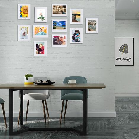 11 Pcs Multi Photo Frame Set Hanging white