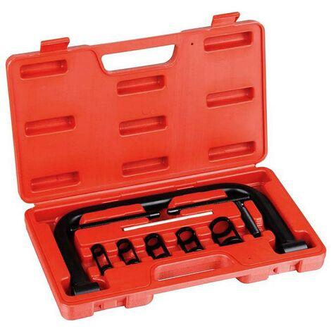 11 Piece Tool Box for Valve Spring Compressor, Valve Spring Compressor, with Red case, 11 Parts, Material: C45 steel