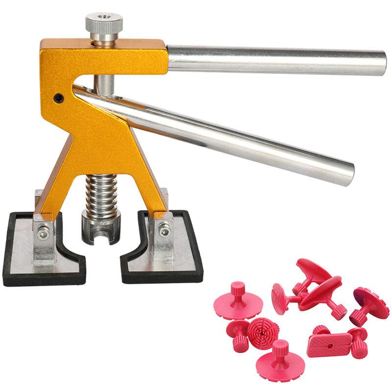 Happyshopping - 11 pieces Kit d'outils de reparation de debosselage sans peinture de carrosserie de voiture automatique Dent Lifter avec des outils