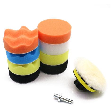 """11 piezas, almohadillas de pulido para automoviles, kit de almohadillas de pulido encerado, 125 mm / 6 """""""