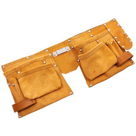 11 Pocket Heavy Duty Leather Tool Belt