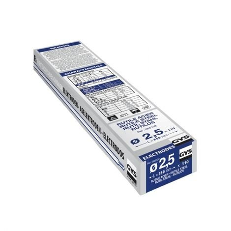 110 Électrodes rutiles E6013 ø2,5 GYS 085138