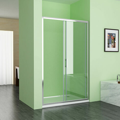 "main image of ""Sliding Shower Door Bathroom 6 mm Easy Clean Glass Shower Enclosure Cubicle Door"""