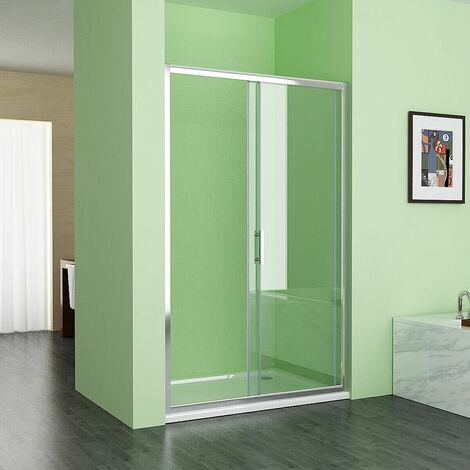 "main image of ""Sliding Shower Door Bathroom 6 mm Easy Clean Nano Glass Shower Enclosure Cubicle"""