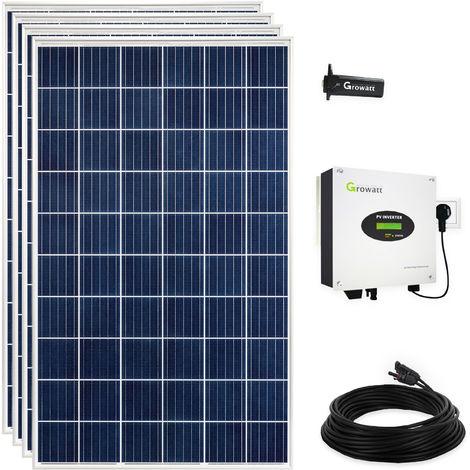 1100 Watt Plug & Play Solaranlage Photovoltaikanlage mit WiFi, Polykristallin