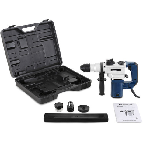 1100 Watt SDS Rotary Impact Hammer Drill incl. Accessories and Transport Case (Quick-change Drill Chuck, Chuck max. Ø 26 mm, Depth Stop, Point Chisel & Flat Chisel)