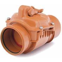110mm Horizontal Polypropylene Check Non-Return Anti-Flood Valve Backwater Prevented