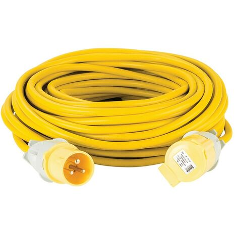 110V Yellow Arctic Extension Lead 14m & 25m
