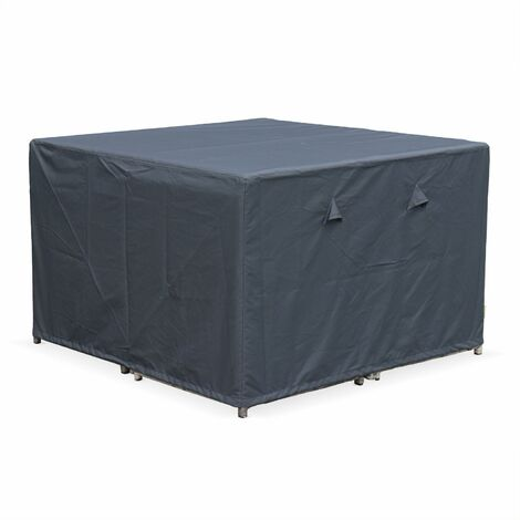 112x112cm dark grey dust cover - Square, PA-coated polyester dust cover for the Vabo 8 garden table