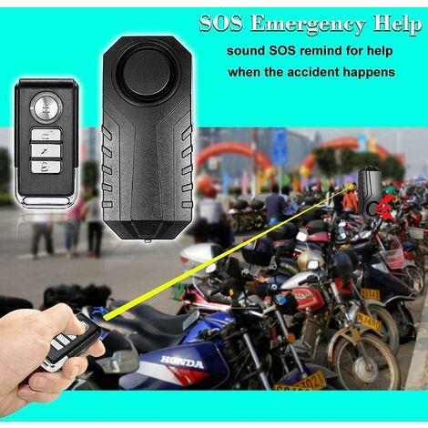 113dB Alarme De Vibration, Alarme Anti-Vol Intelligente, sans Fil pour vélo, Moto, Voiture, mobilité, Scooter,fenêtre de Porte, rottinette, Sac, Bagage étanche +Télécommande & Capteur Vibrations