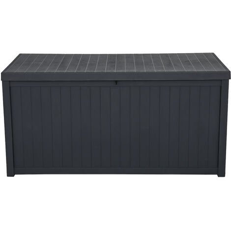 """main image of """"113gal 430L Outdoor Garden Plastic Storage Deck Box Chest Tools Cushions Toys Lockable Seat Waterproof - Different colours"""""""