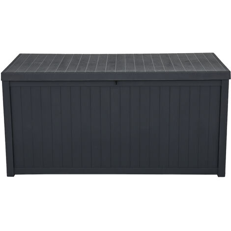 113gal 430L Outdoor Garden Plastic Storage Deck Box Chest Tools Cushions Toys Lockable Seat Waterproof - Different colours