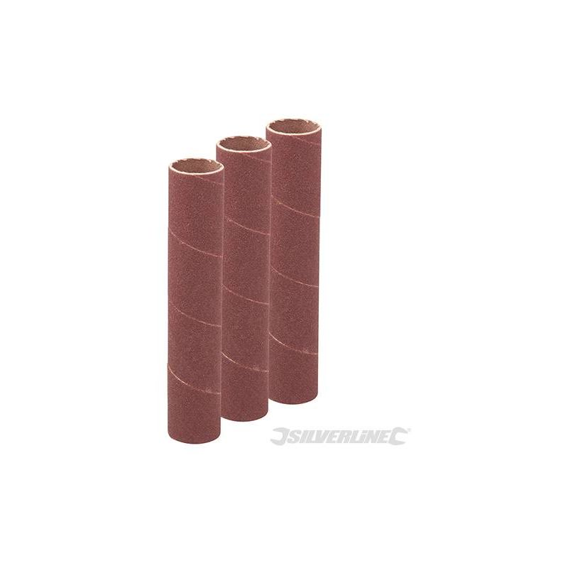 114mm Bobbin Sleeves 3pk 19mm 60 Grit Aluminium Oxide Cloth