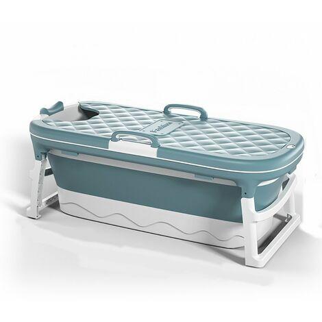 115 * 62 * 52cm Folding Bath Tub Barrel Sauna For Baby Child Adult Blue