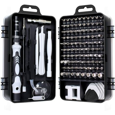115 en 1 mini set tournevis precision kit tools petit boite tournevis torx informatique demontage pc portable pour macbook,iphone,réparation,lunettes,bricolage,montre,smartphone